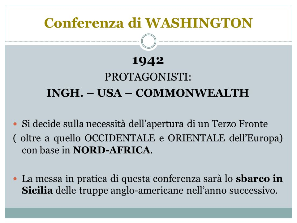 Conferenza di WASHINGTON