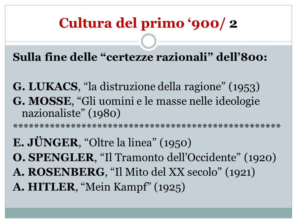 Cultura del primo '900/ 2