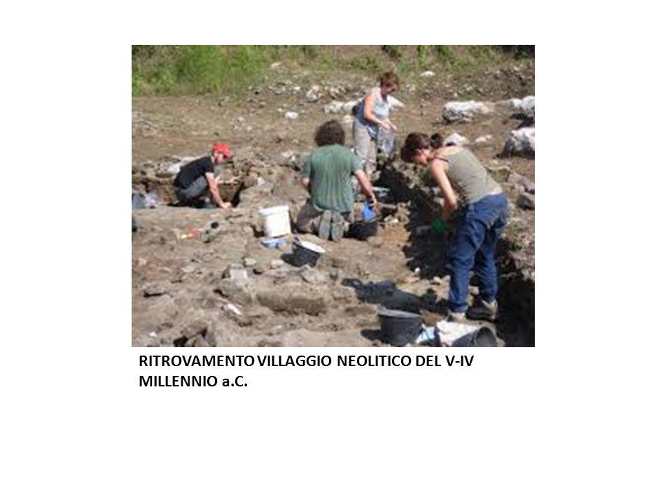 SCAVI ARCHEOLOGICI PRESSO US NAVY GRICIGNANO RITROVAMENTO VILLAGGIO NEOLITICO DEL V-IV MILLENNIO a.C.