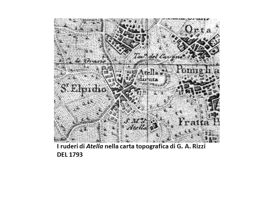 I ruderi di Atella nella carta topografica di G. A. Rizzi DEL 1793