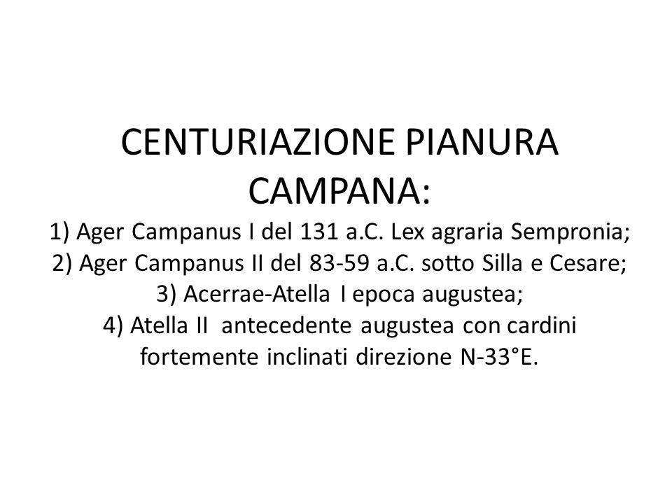 CENTURIAZIONE PIANURA CAMPANA: 1) Ager Campanus I del 131 a. C
