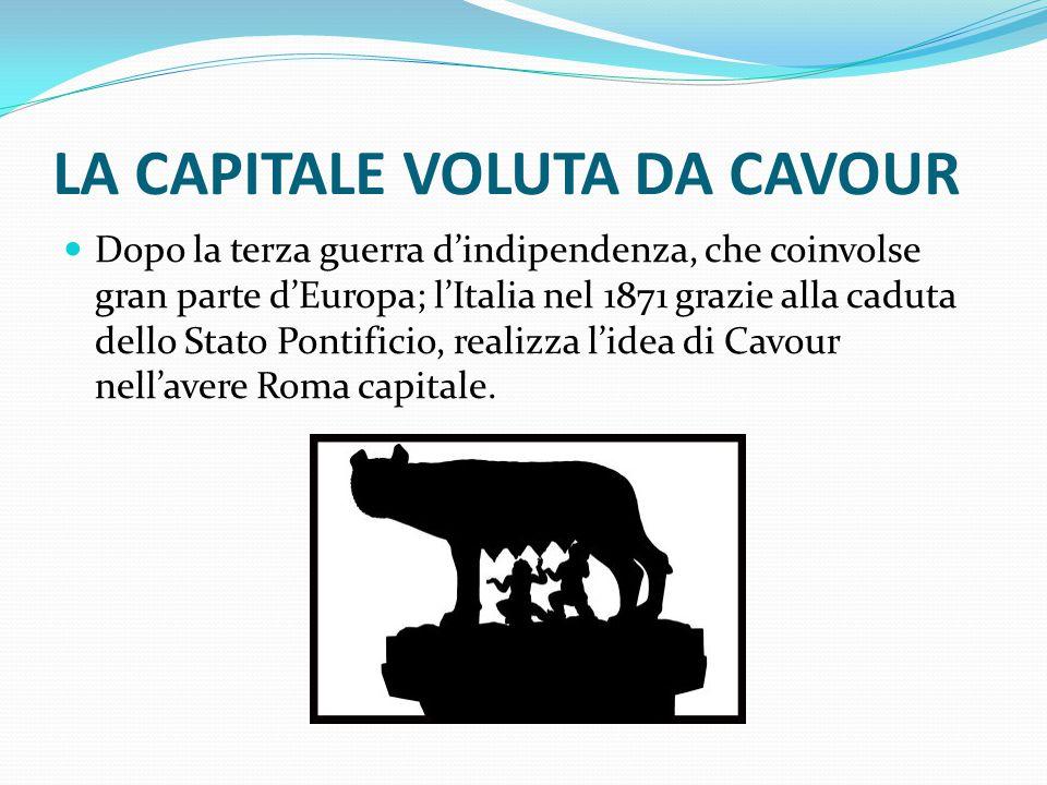 LA CAPITALE VOLUTA DA CAVOUR