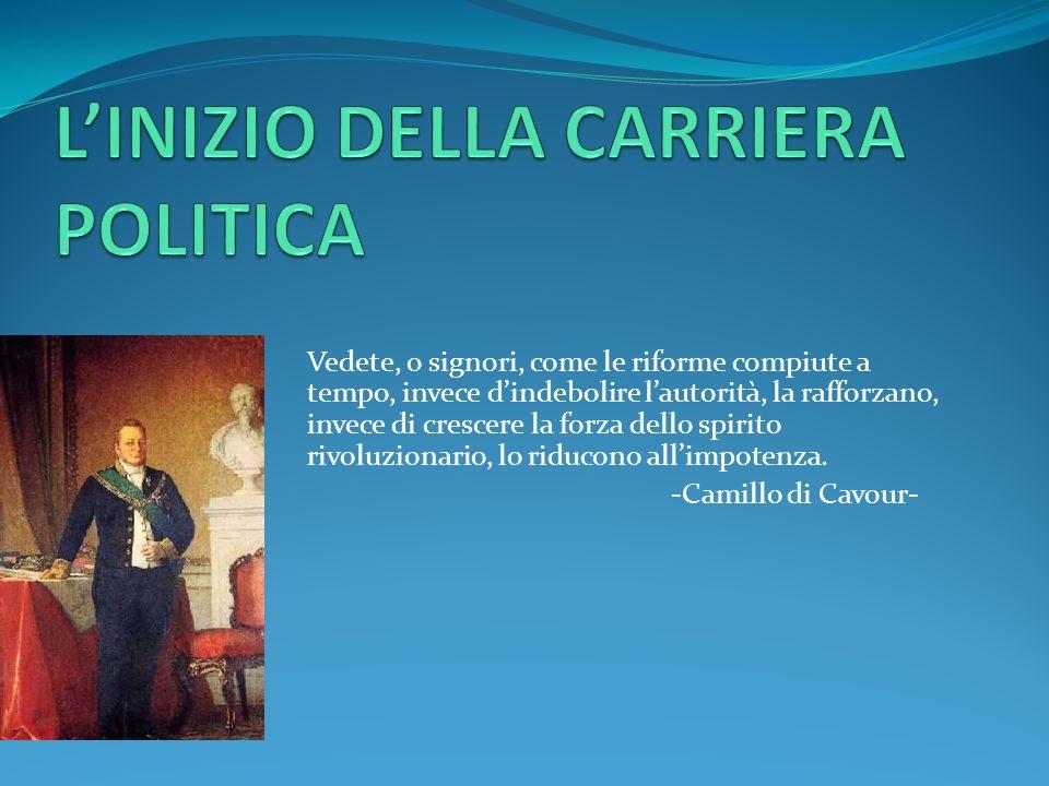 L'INIZIO DELLA CARRIERA POLITICA