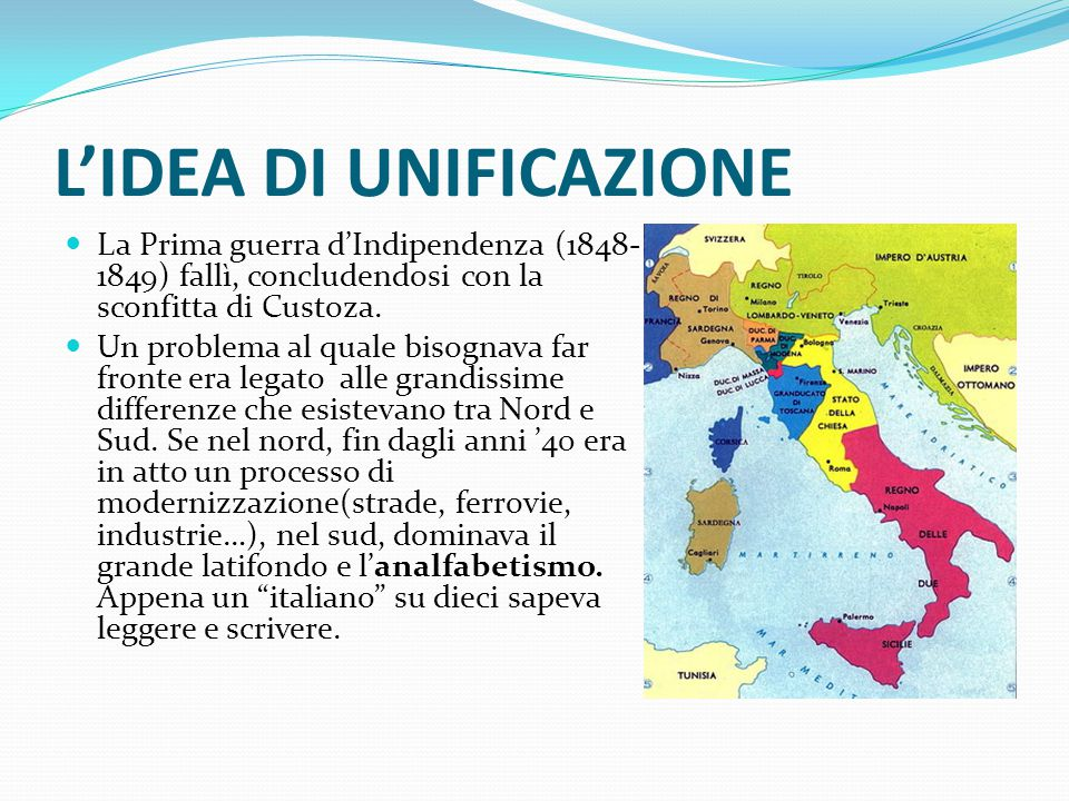 L'IDEA DI UNIFICAZIONE
