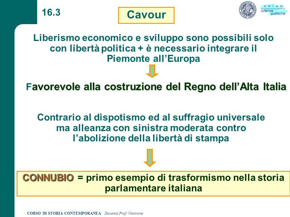 Favorevole alla costruzione del Regno dell'Alta Italia