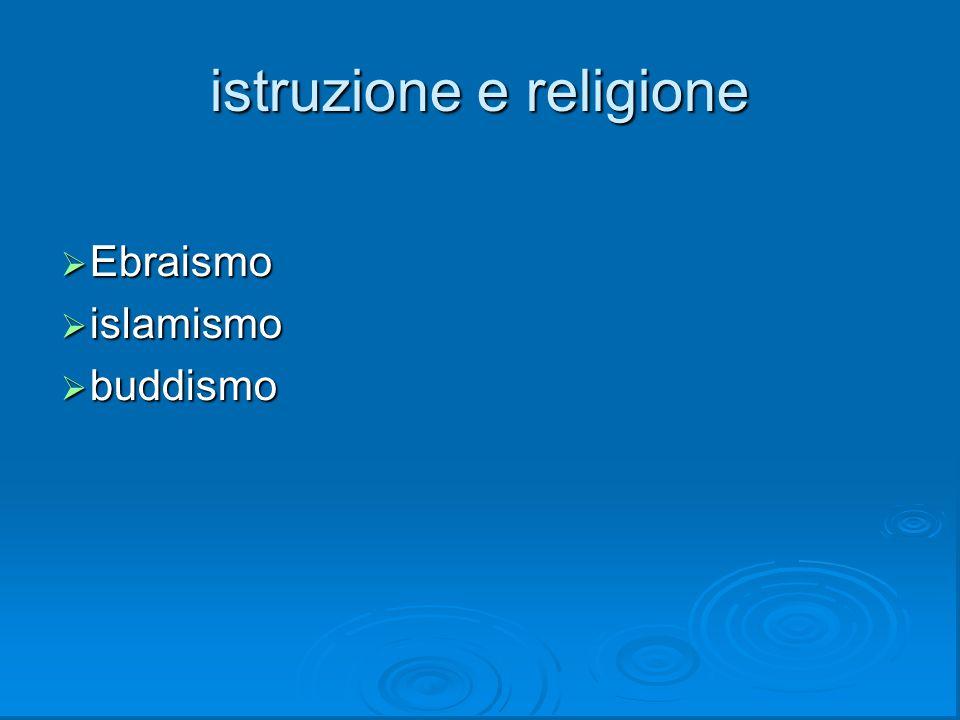 istruzione e religione