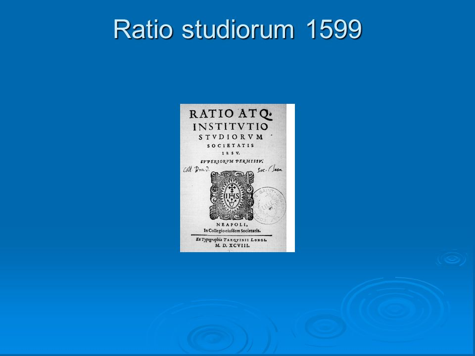 Ratio studiorum 1599