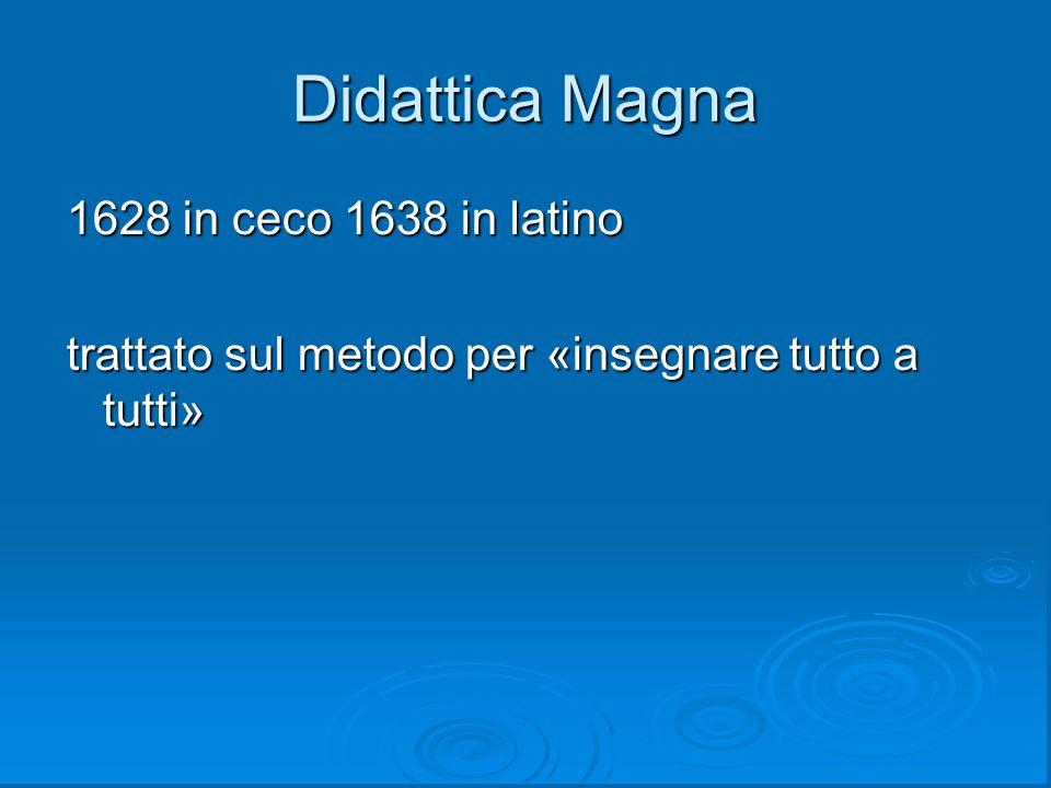 Didattica Magna 1628 in ceco 1638 in latino