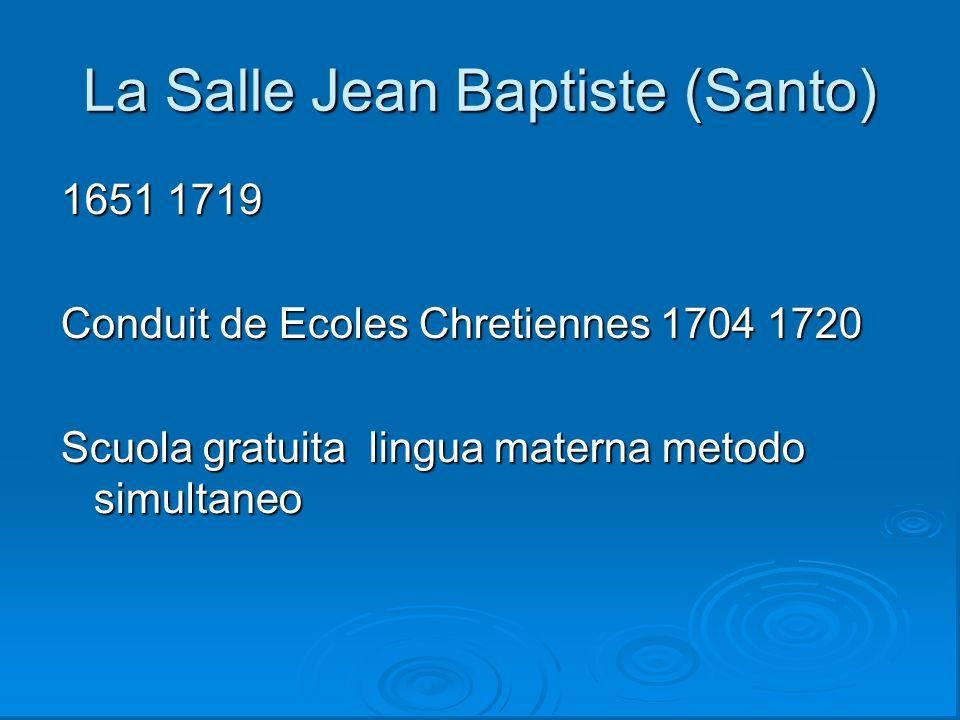 La Salle Jean Baptiste (Santo)