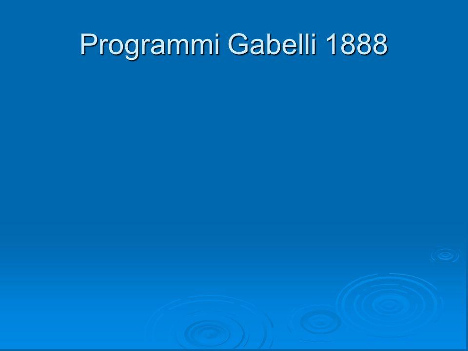 Programmi Gabelli 1888