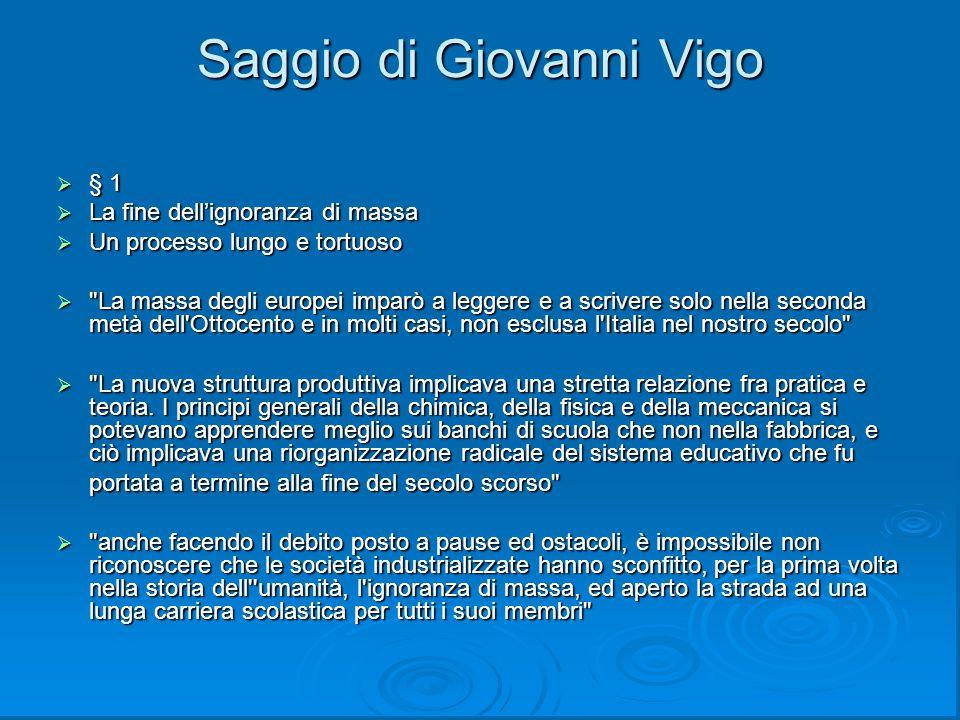 Saggio di Giovanni Vigo
