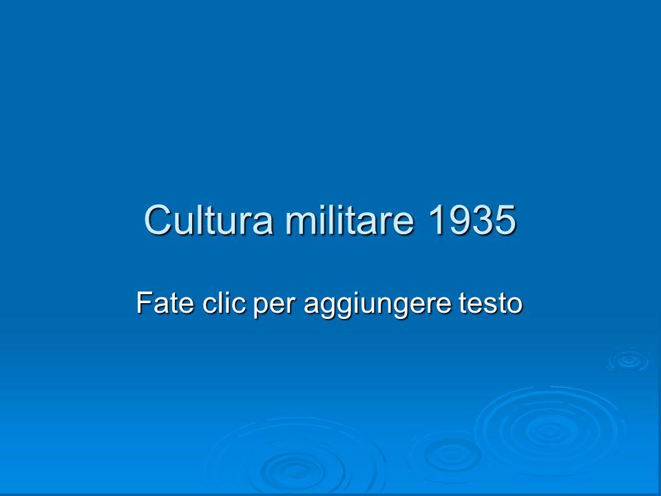 Cultura militare 1935