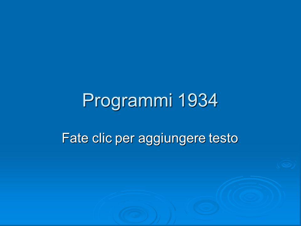 Programmi 1934