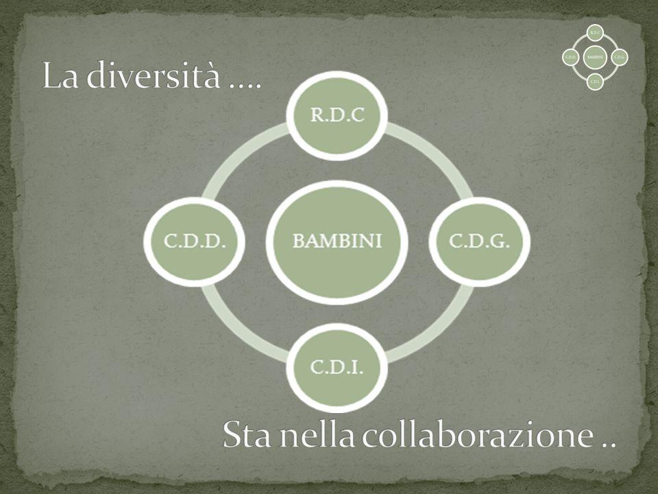 La diversità …. Sta nella collaborazione ..