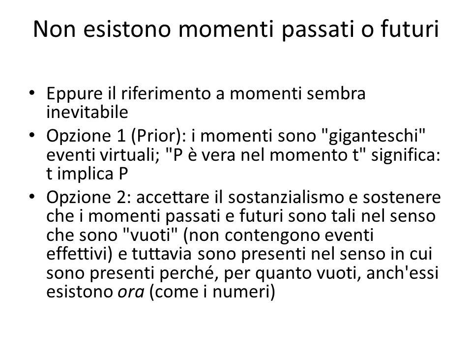 Non esistono momenti passati o futuri