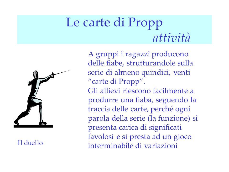 Le carte di Propp attività