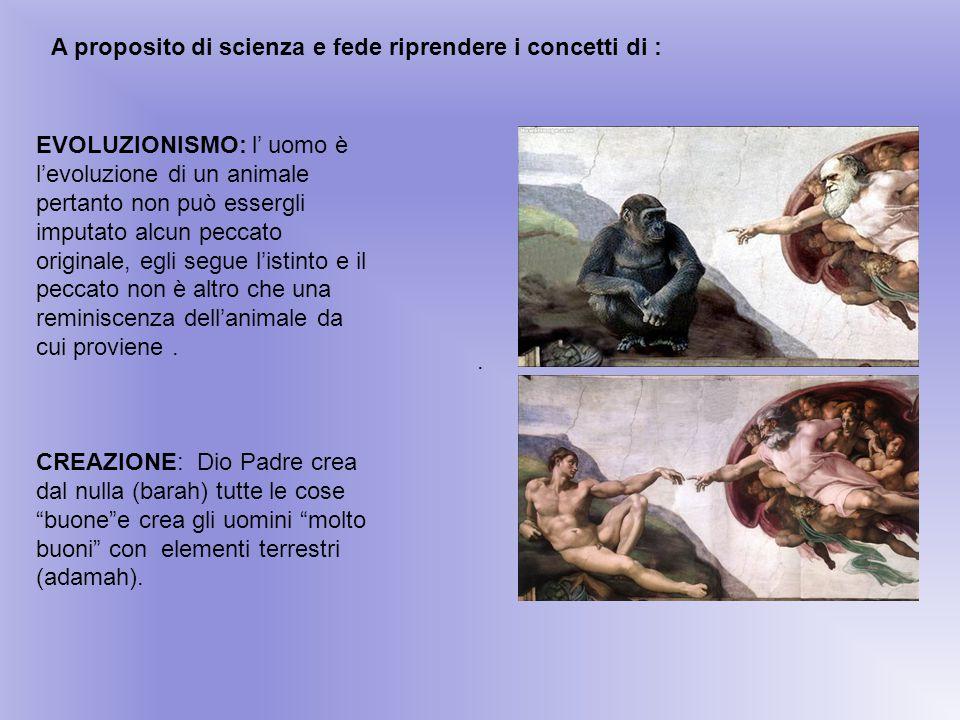 A proposito di scienza e fede riprendere i concetti di :