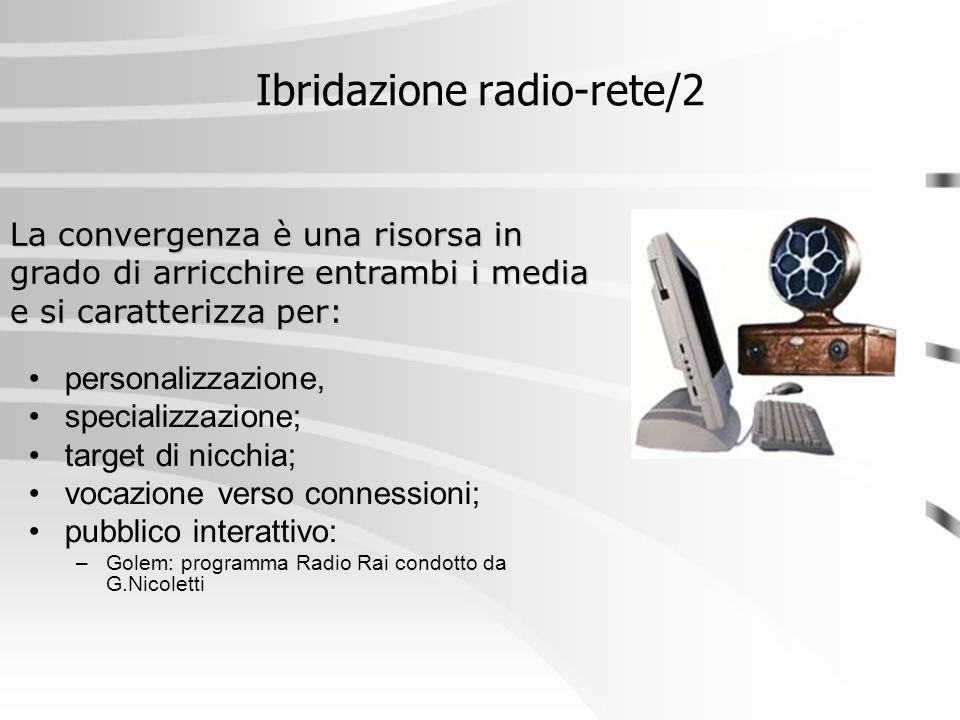Ibridazione radio-rete/2