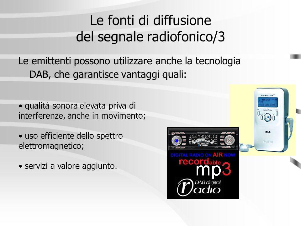 Le fonti di diffusione del segnale radiofonico/3