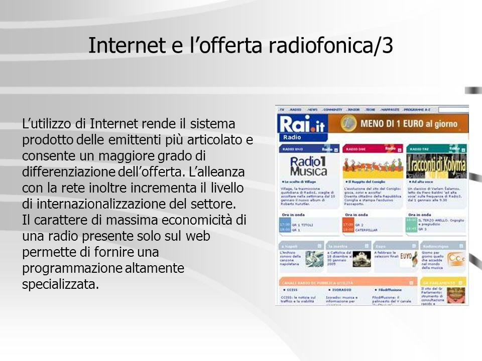 Internet e l'offerta radiofonica/3