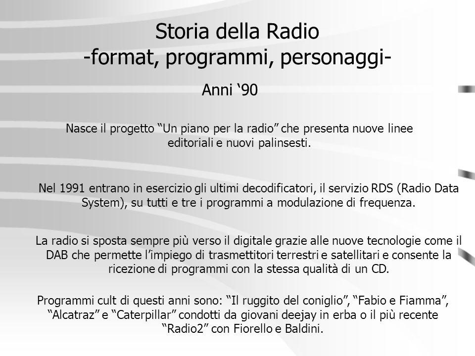 Storia della Radio -format, programmi, personaggi-