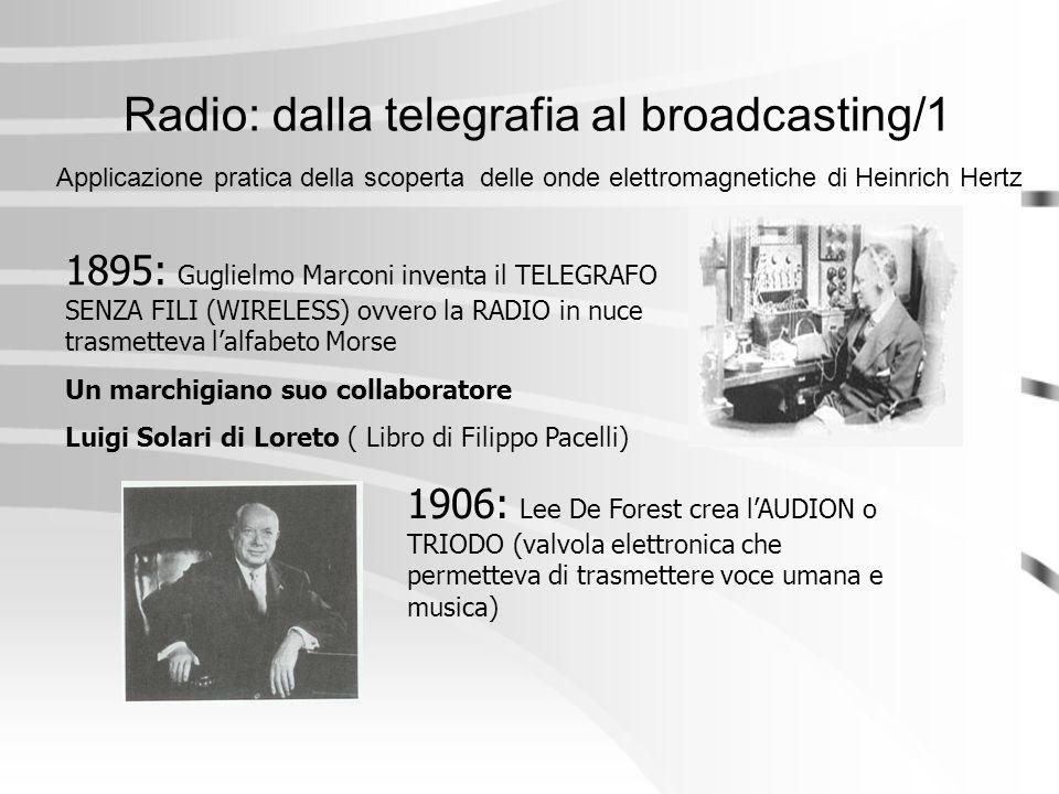 Radio: dalla telegrafia al broadcasting/1