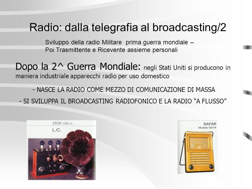 Radio: dalla telegrafia al broadcasting/2