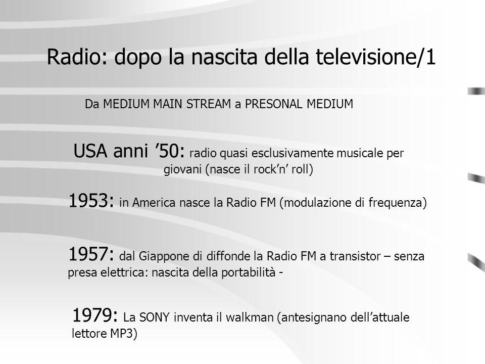 Radio: dopo la nascita della televisione/1