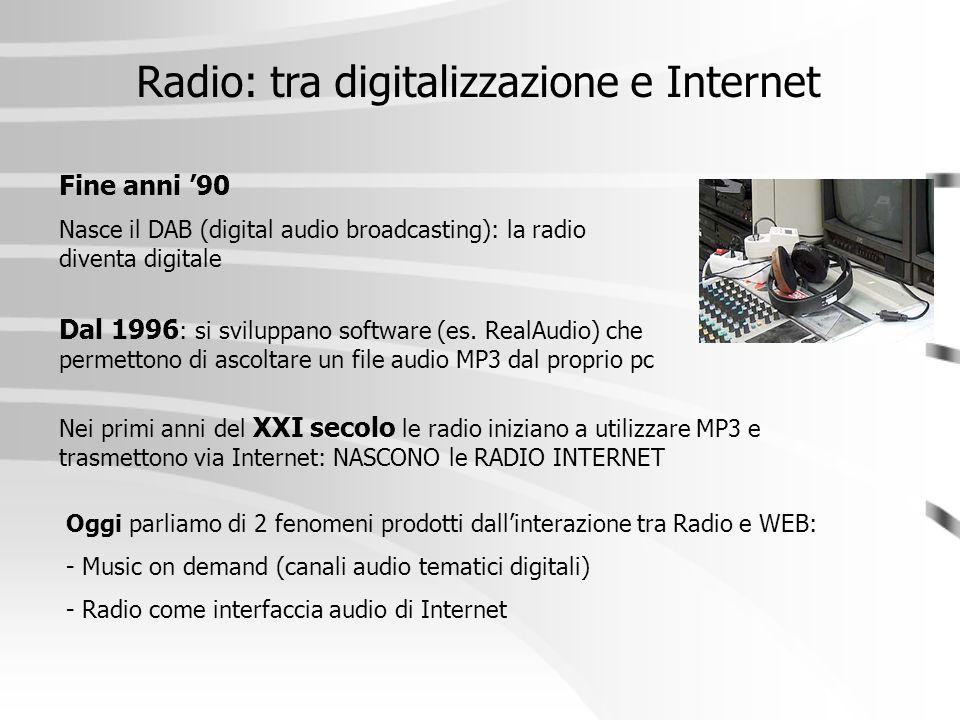 Radio: tra digitalizzazione e Internet