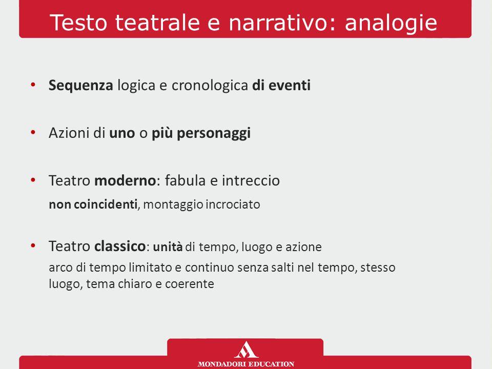Testo teatrale e narrativo: analogie