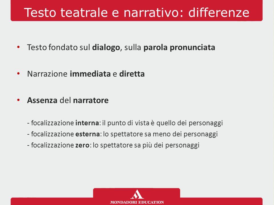 Testo teatrale e narrativo: differenze