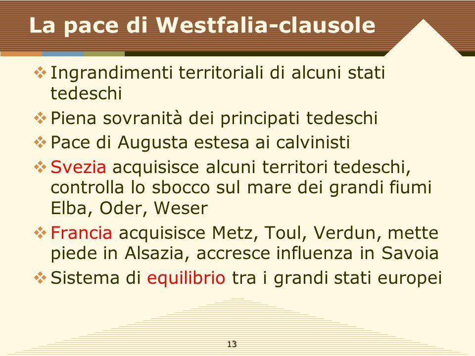 La pace di Westfalia-clausole