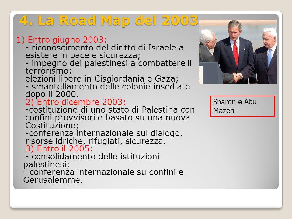 4. La Road Map del 2003 1) Entro giugno 2003:
