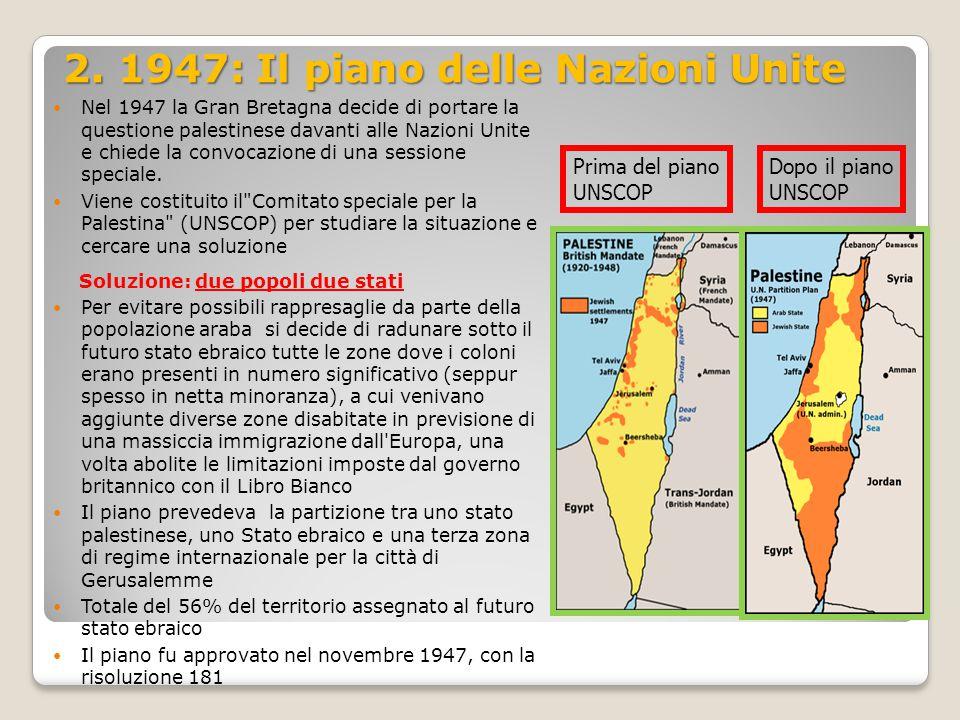 2. 1947: Il piano delle Nazioni Unite
