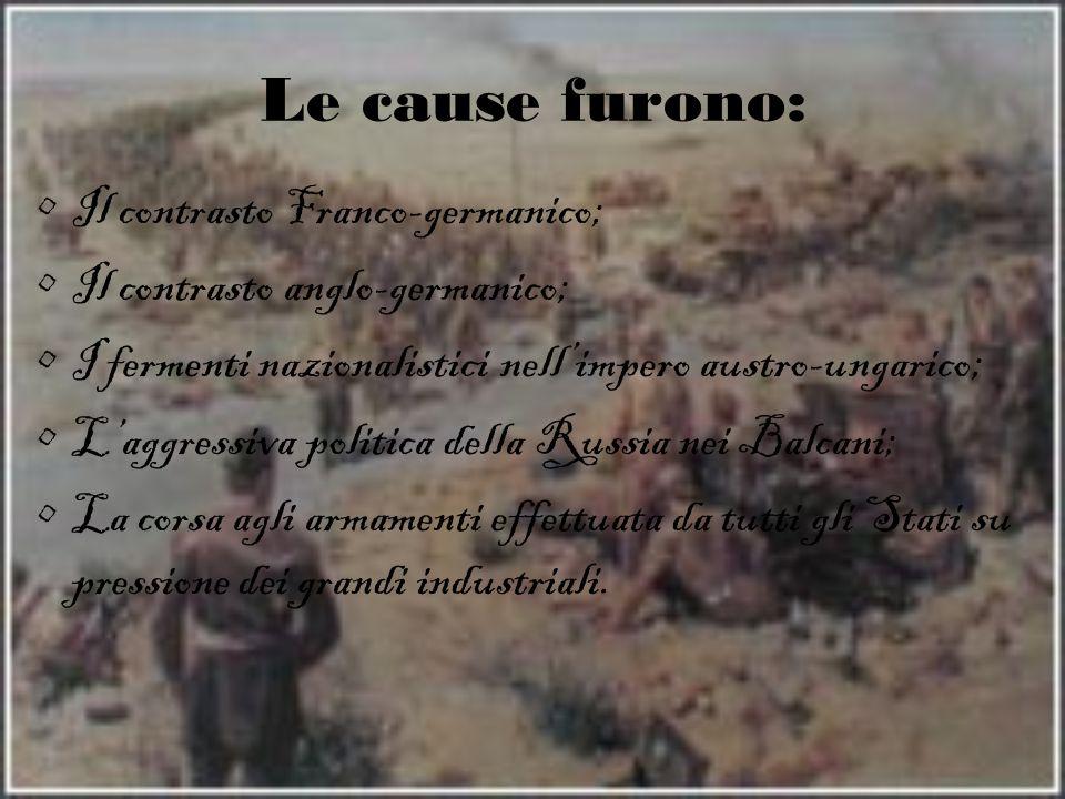 Le cause furono: Il contrasto Franco-germanico;