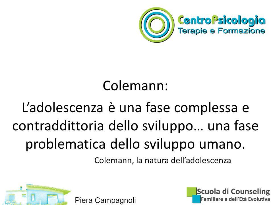 Colemann, la natura dell'adolescenza