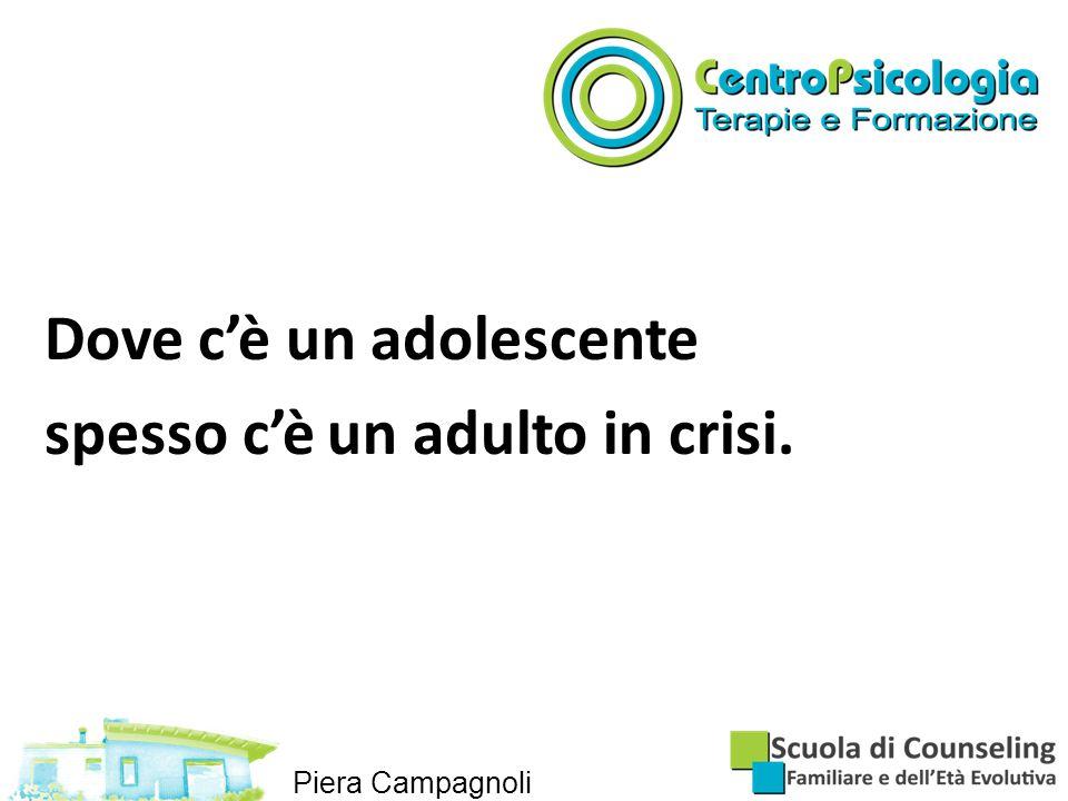 Dove c'è un adolescente spesso c'è un adulto in crisi.