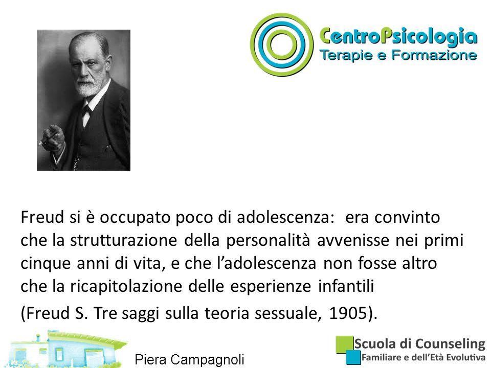 (Freud S. Tre saggi sulla teoria sessuale, 1905).
