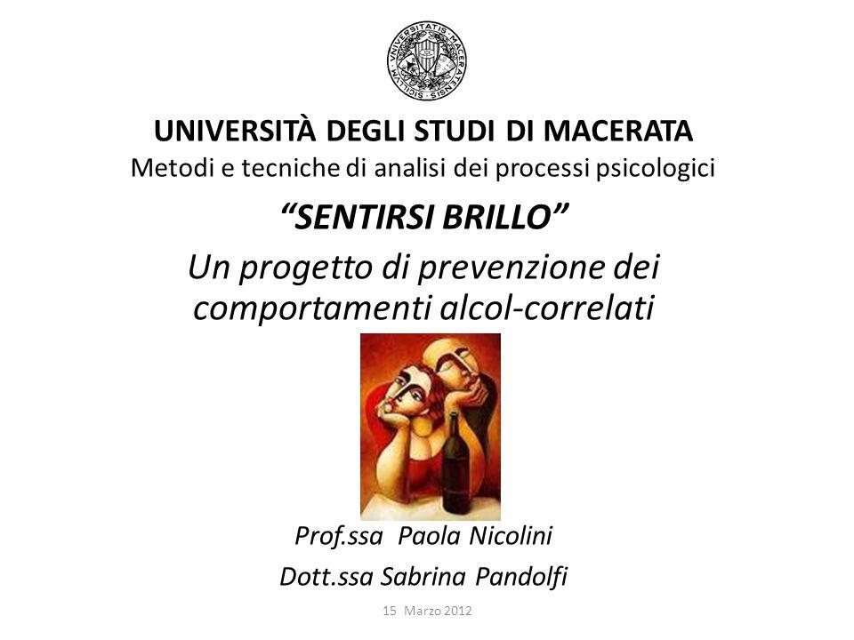 Un progetto di prevenzione dei comportamenti alcol-correlati