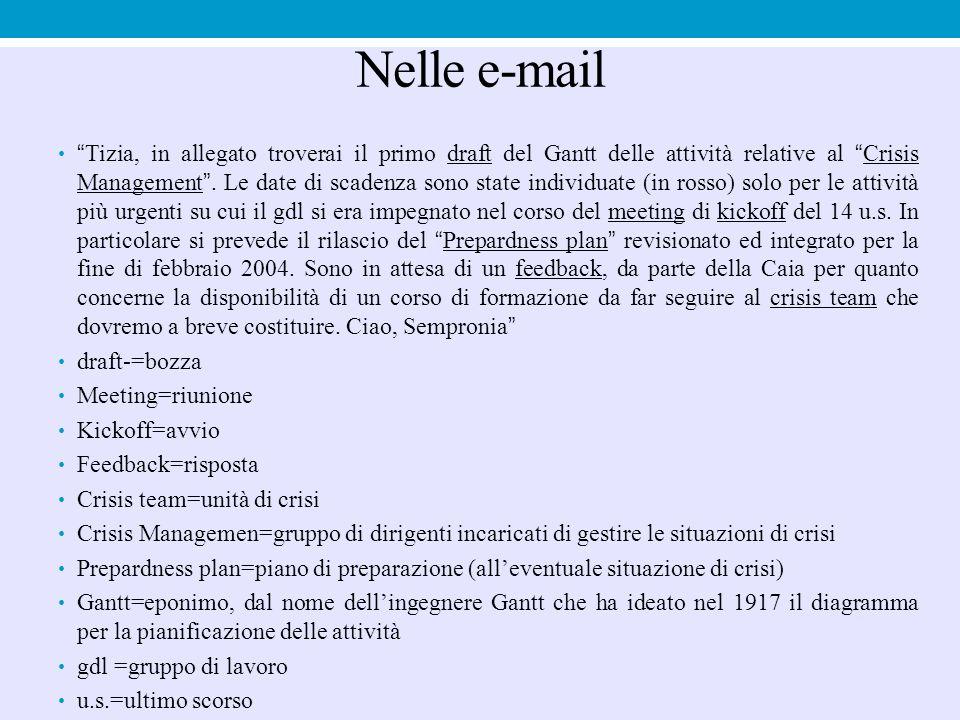 Nelle e-mail