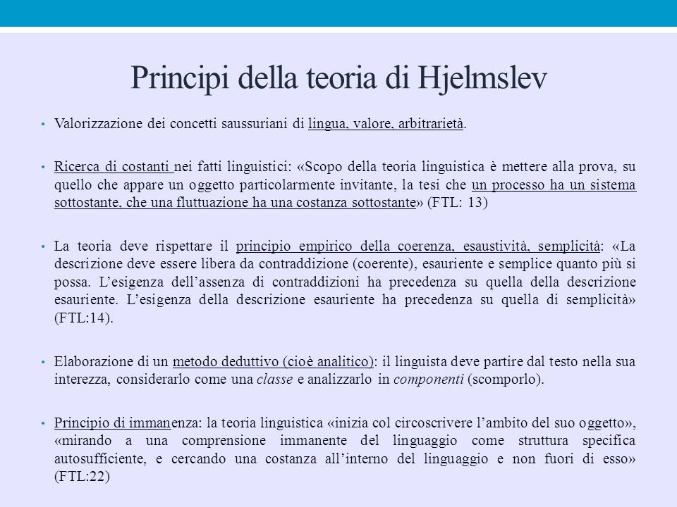 Principi della teoria di Hjelmslev