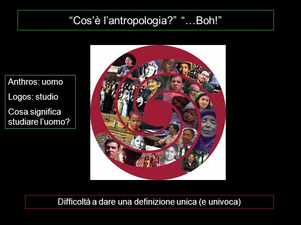 Cos'è l'antropologia …Boh!