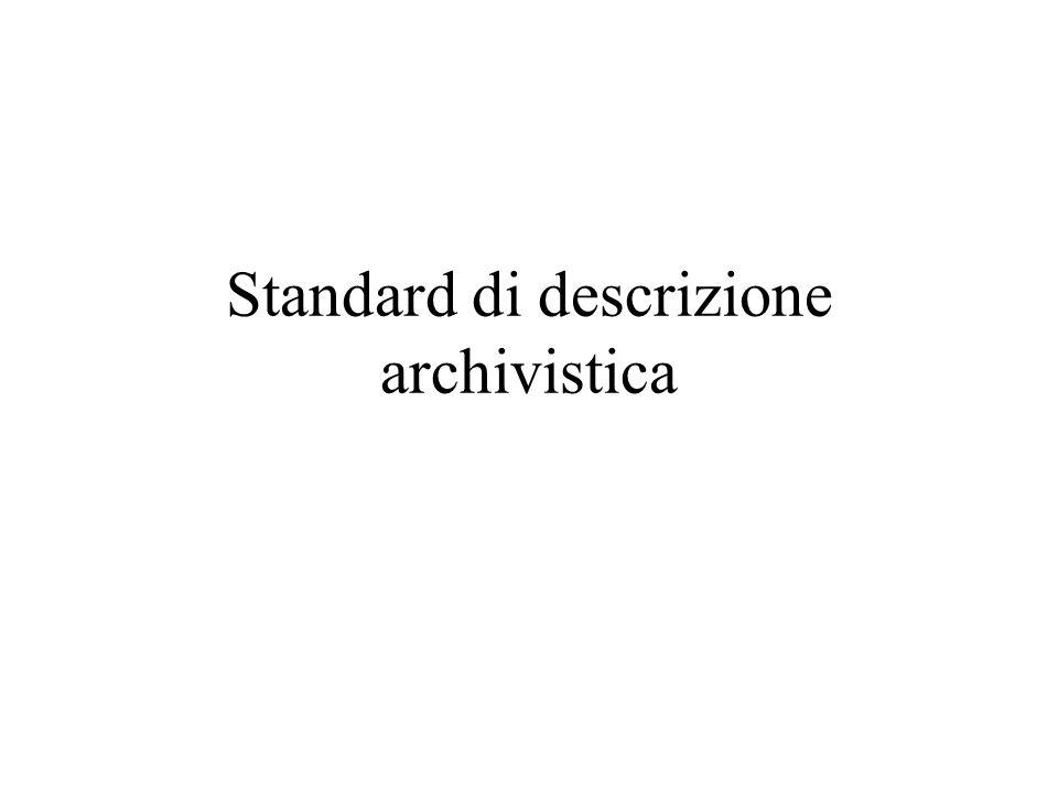 Standard di descrizione archivistica