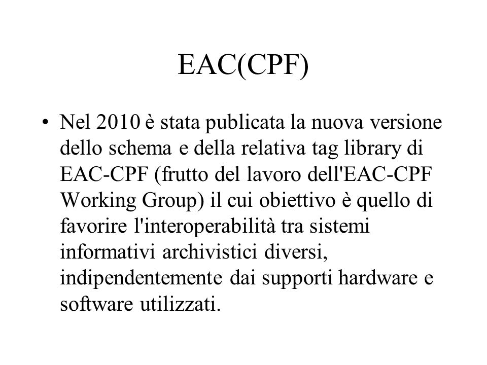 EAC(CPF)