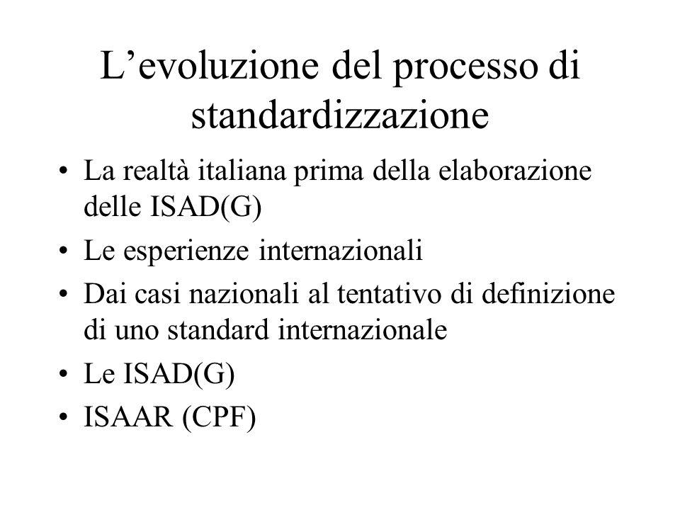 L'evoluzione del processo di standardizzazione