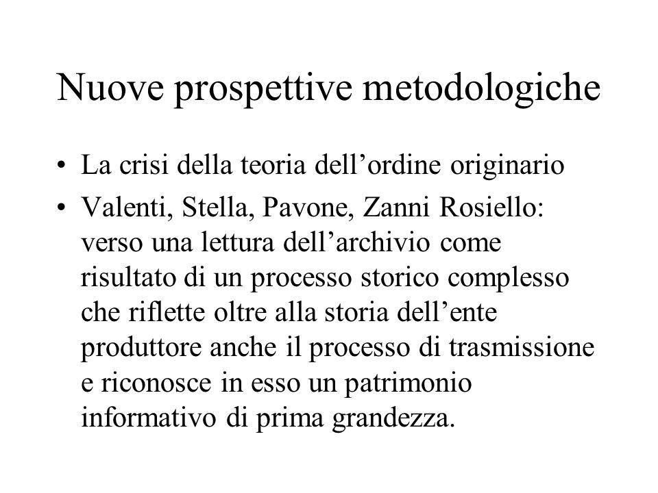Nuove prospettive metodologiche