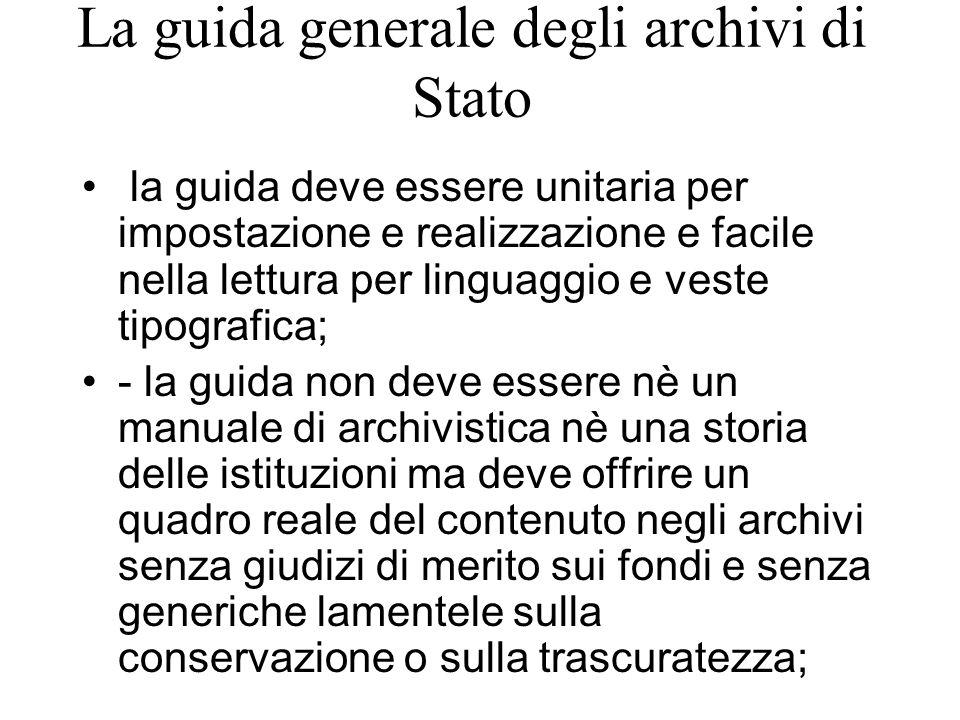 La guida generale degli archivi di Stato