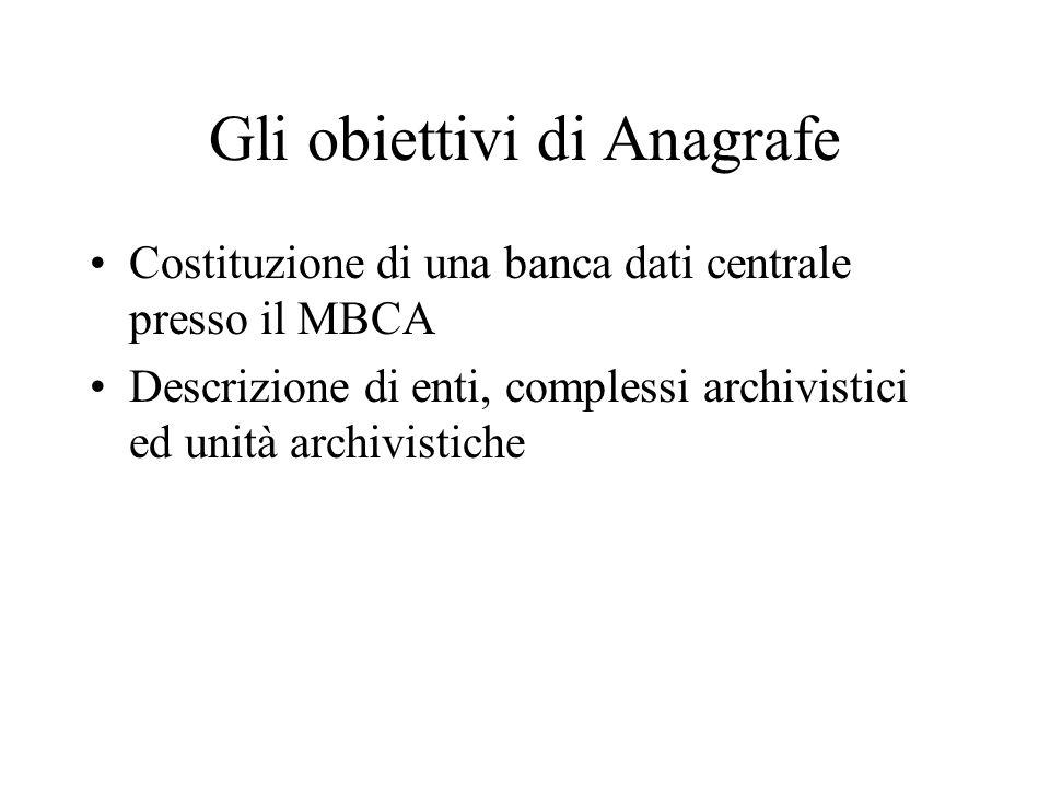 Gli obiettivi di Anagrafe