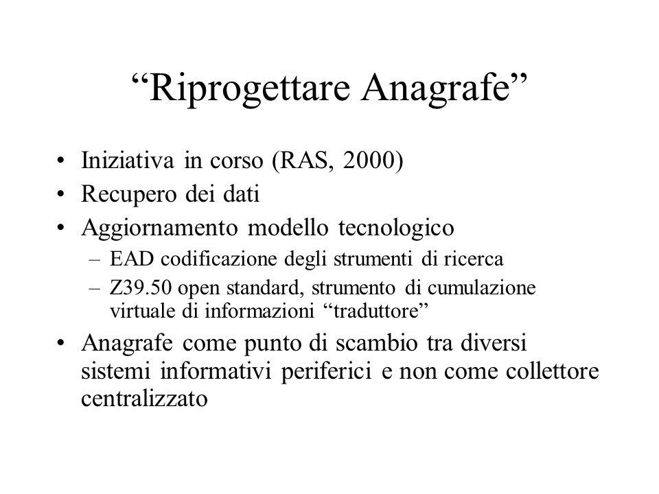 Riprogettare Anagrafe