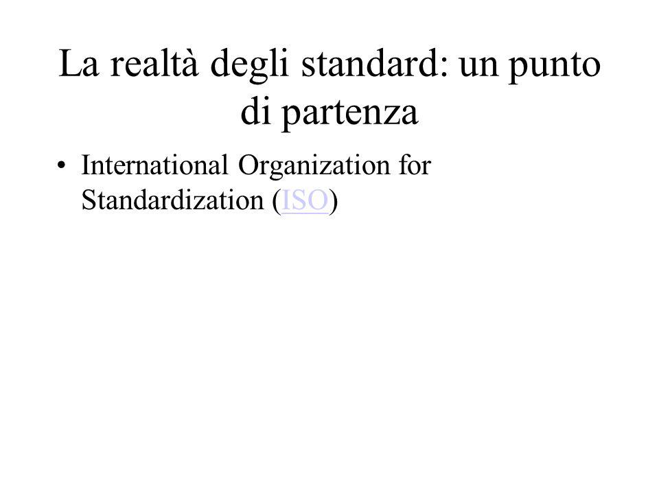 La realtà degli standard: un punto di partenza